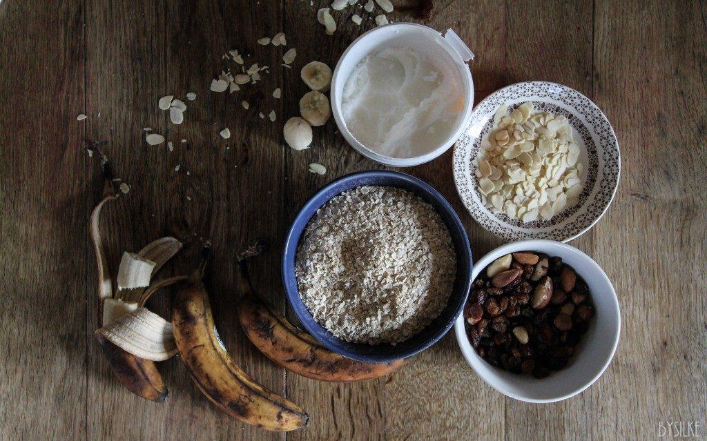 havermoutkoekjes met banaan ingrediënten