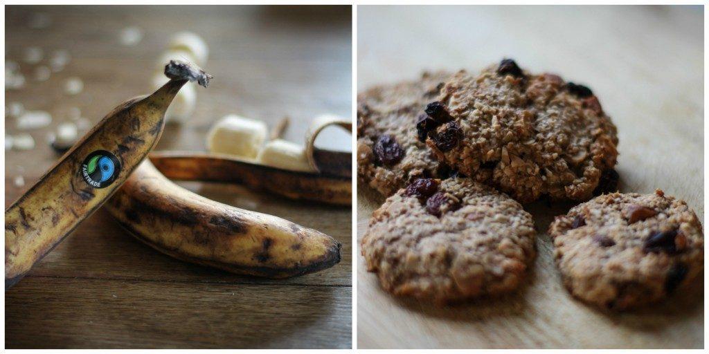 Makkelijk recept  |  Gezonde havermoutkoekjes met banaan
