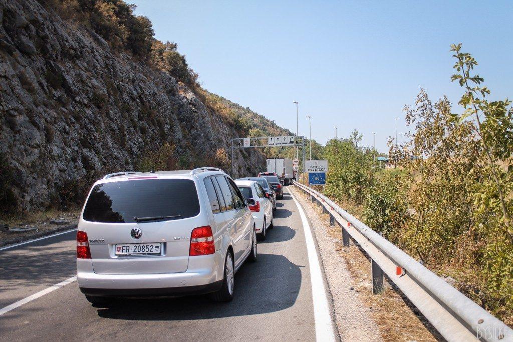 Grensovergang Montenegro Kroatië